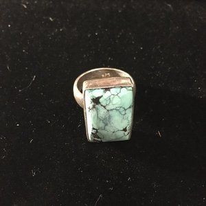 VINTAGE 925 SILVER & TURQUOISE RING!